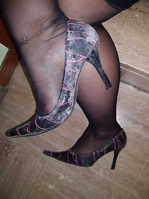 SHOES WOMAN USED SCARPE DONNA USATE VISSUTE N.37 zoccoli tacchi ciabatte zeppe