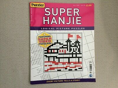 PUZZLER SUPER HANJIE LOGICAL PICTURE PUZZLES 50 Pages ISSUE 108 2019 FREEPOST