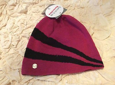 6f3aad1b109 SPYDER Women s Winter Knit Hat Pink And Black Striped One Size