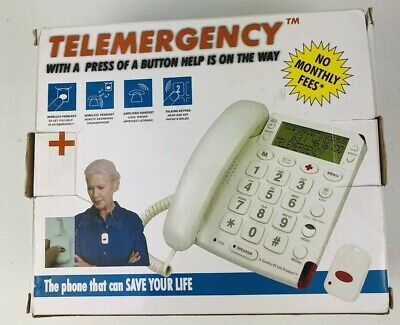 Telemergency 2000 Elite Emergency Phone System New In Box Elderly Disabled Alert