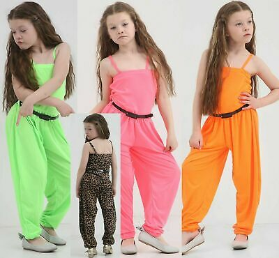 UK Fashion Baby Kids Girls Sleeveless Romper Jumpsuit Outfits Clothes Age 7-13