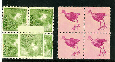 Liberia Stamps 10c Jacana (345) Progressive Color Proof Blocks