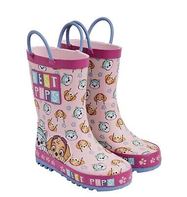 BNWT Mothercare Paw Patrol  Skye Welly's Wellington Boots Size 9 (infant) Pink
