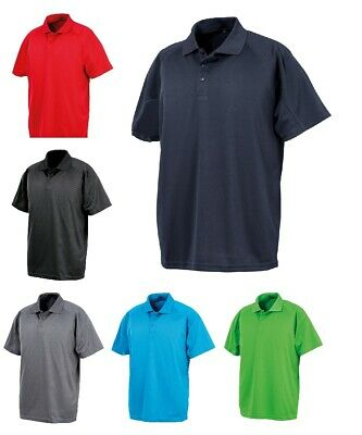 Mens Lightweight Aircool Polo T Shirts Size S to 5XL PLAIN SPORTS & CASUAL SHIRT