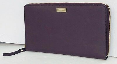 a2f8120d46e5 NEW KATE SPADE Talla Laurel Way Travel Zip Around Large Wallet in Mahogany  $229
