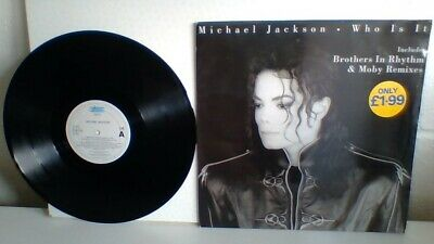 """Michael Jackson 'who Is It' 12"""" Vinyl Single.  4 Mix Tracks.  Made In Holland"""