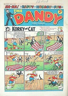 THE DANDY - 8th AUGUST 1959 (4 - 10 Aug) RARE 60th BIRTHDAY GIFT !! FINE..topper