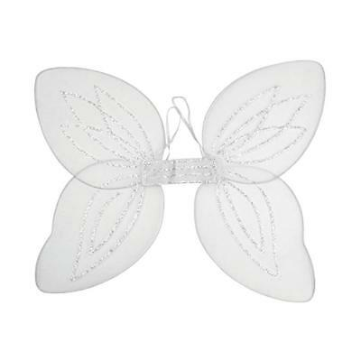 Large Adult Net Fairy Wing With Silver Glitter Fancy Dress Up Pink White Black