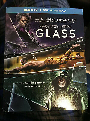 GLASS (2-disc BLU-RAY+DVD+DIGITAL) BRAND NEW with Slip Cover
