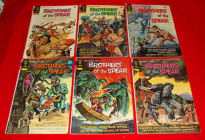 9 Gold Key Brothers of the Spear Jungle Comic Books Bronze Age 1972-75 #2 3 4 +