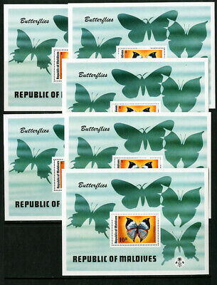 Maldives Stamps # 592 Rare Butterfly Sheet Lot of 6 Scott Value $165.00