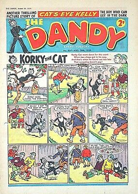 DANDY - 29th AUGUST 1959 (25 - 31 Aug) - RARE 60th BIRTHDAY GIFT !! VG+...topper