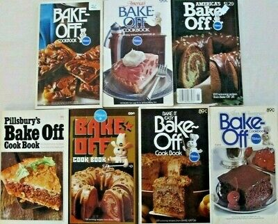 Lot of SEVEN Vintage 1970's PILLSBURY BAKE-OFF RECIPE BOOKLETS Mixed Variety