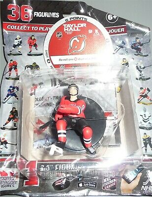"""TAYLOR HALL New Jersey Devils 2.5"""" Series 4 NHL Imports Dragon Figure Toy LOOSE"""