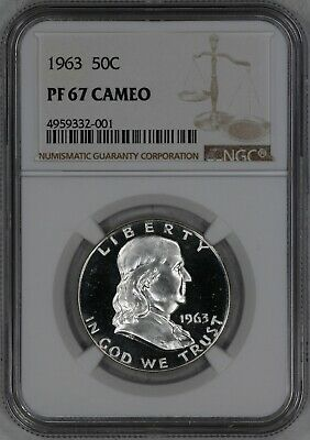 1963 Franklin Half Dollar 50C Ngc Certified Pf 67 Cam Proof Cameo (332-001)