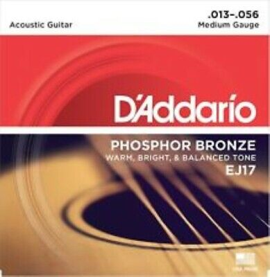 "D'Addario EJ17 ACOUSTIC MEDIUM GUITAR STRINGS - PHOS. BRONZE -  ""FREE PICKS ???"""