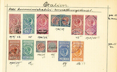 Italy Stamps 13x Revenues over 100 Years Old All Identified