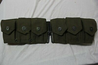 US Military Issue WW2 Korea Vietnam M 1 Garand Ammo Cartridge Belt GB2
