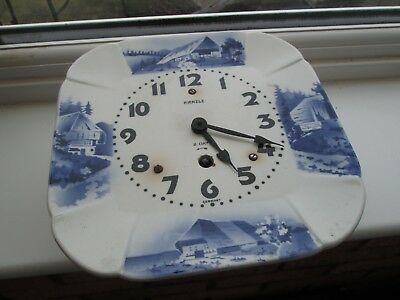 Kienzle Blue And White Pottery Clock Circa 192O's In Date Good Condition Bargain