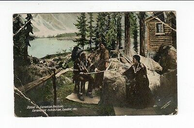 Postcard. Scene in Canadian Section Coronation Exhibition. 1911. Poor Condition.