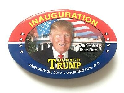 2017 President Donald Trump Inauguration of the 45th President Oval Flag Button
