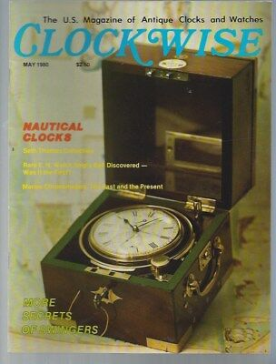 Clockwise Magazine March 1980 & May 1980 Antique Clocks & Watches NEW RARE