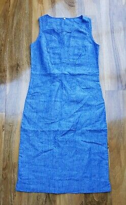 f4c6818bc6e Boden Ladies Gorgeous Linen Notch Neck Dress W0108 Rrp £70 Uk 6 Brand New