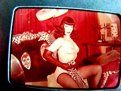 early     Bettie Page   1950's  Color Slide Transparency  early BETTY