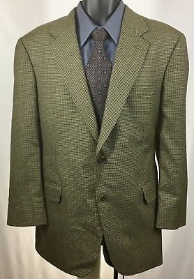 Brooks Brothers Houndstooth Mens Size 42 R Brown Sport Coat Wool Blazer Jacket