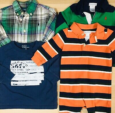 Polo Ralph Lauren Lot of 4 Shirts and Romper