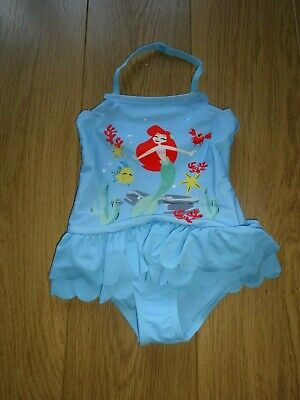 Marks & Spencer Disney Princess Sun Safe Swimming Costume Upf 50+ Age 3-6 Months