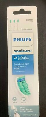 3 Pack Genuine Philips Sonicare Proresults  Toothbrush Heads Hx6013/63 New ✅