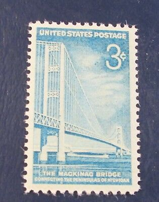 U.S. STAMP--[Single]--MACKINAC BRIDGE--(1958)--Scott#1109--<mint>