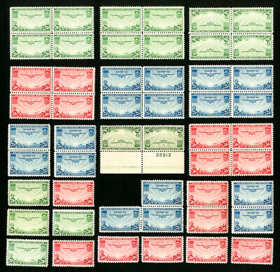 US Stamps # C20-22 VF OG NH Lot of 20 Clean Sets Scott Value $468.00