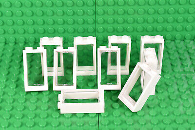 LEGO windows (pack of 10) small 3x2 WHITE with glass for house 2x3 BRAND NEW