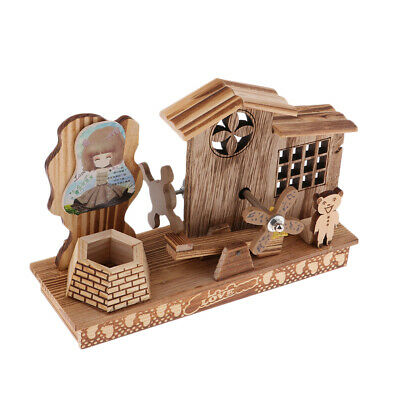 Wood Music Box, Wooden Musical Boxes Craft Gifts for Birthday Christmas