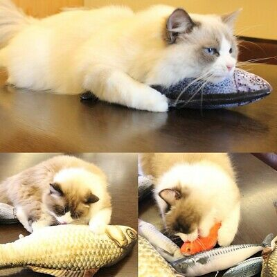 Cat Mint Toys Cat Pillow Fish Gift Pet Products Puppy Supplies Catnip  Chew Toy