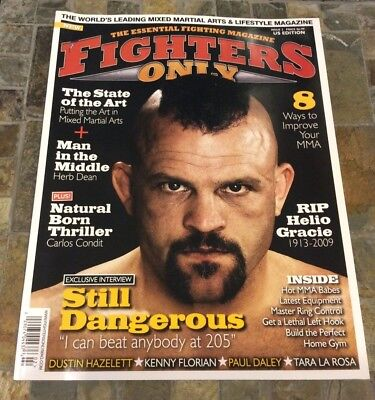 2009 FIGHTERS ONLY MAGAZINE - CHUCK LIDDELL UFC MMA - 2nd Issue Made  US Edition
