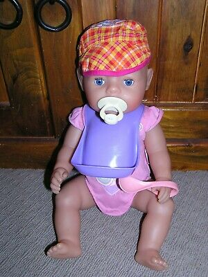 Zapf Creation Baby Born Interactive Doll ~ Eats, Drinks, Wets, Poos