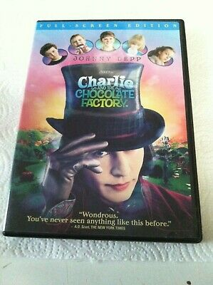 Dvd Movie-Charlie And The Chocolate Factory-Johnny Depp Stars-Like New