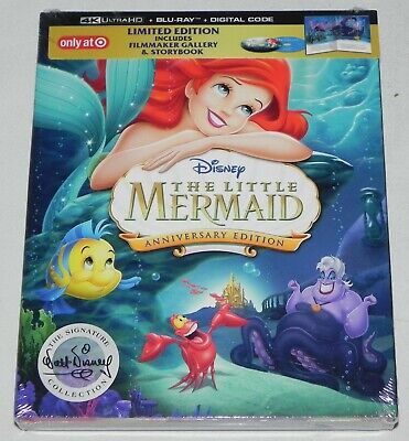 Disney The Little Mermaid (4K ULTRA HD + BLU-RAY + DIGITAL) TARGET EXCLUSIVE