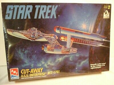 Amt/Ertl Star Trek Cut-Away Uss Enterprise Ncc-1701 Original Series Misb