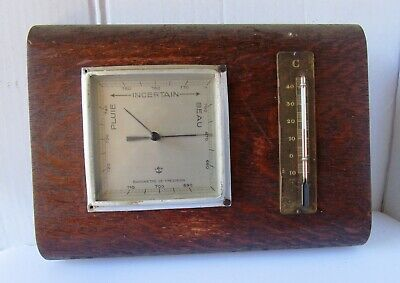 Neat Timber Barometer and Thermometer from VAN HOPPLYNUS de COCK