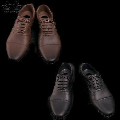 "1/6 Scale Hot Man Brown/Black Shoes f 12""Action figure Toys clothing accessories"