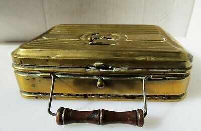 Lovely Vintage French Bronze Bed Warmer from GIROUUN & CO