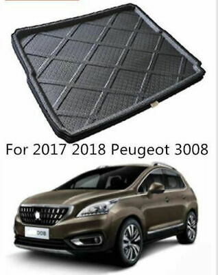 Boot Cargo Liner Rear Trunk Mat Floor Tray Carpet For Peugeot 3008 II 2017 2018