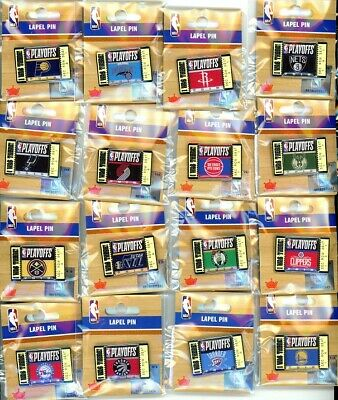 """2019 NBA Playoff I Was There Ticket Pin Choice 16 pins choose playoffs 2"""" Aminco"""