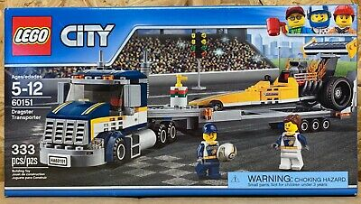 LEGO CITY DRAGSTER Transporter - 60151 - New in Box - Box Damage