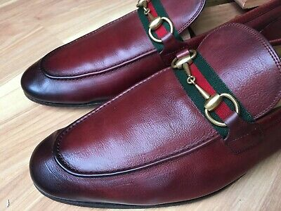 72a28491219 GUCCI  Jordaan  Caligola Horsebit Loafer Burgundy Leather 322500 11 UK (12  US)
