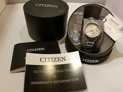 Citizen Eco-Drive FE6124-51A 'Chandler' Women's Stainless Steel Date Watch NEW